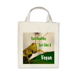 Tote Vegetariano-Orgánico del ultramarinos Bolsa De Mano