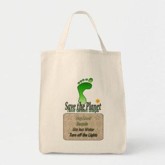 Tote verde que va bolsas lienzo