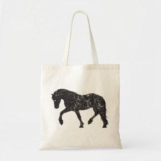 tote Vintage-inspirado del caballo que trota