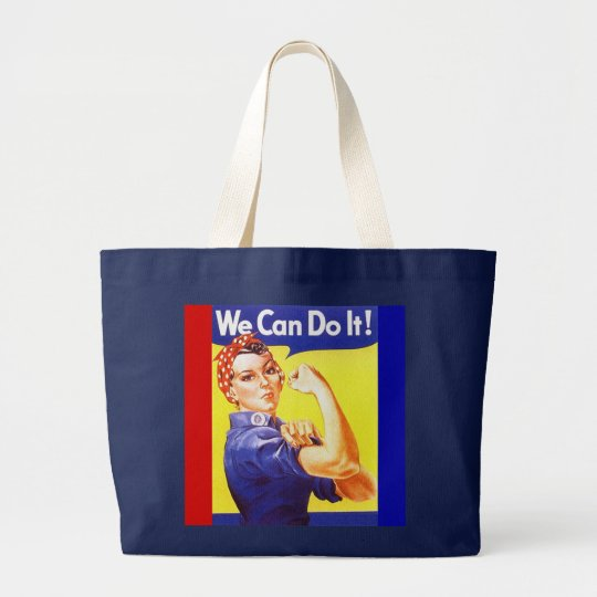 """Tote """"We Can Do It!"""" Slogan Rosie the Riveter"""
