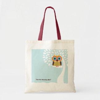 Tote with owl on it