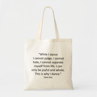 Tote with Quotes Dance