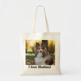 Tote with Sheltie Photo