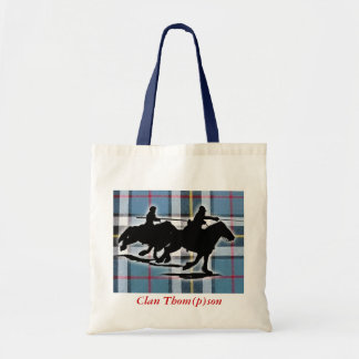 Tote with tartan and border reiver image. canvas bag