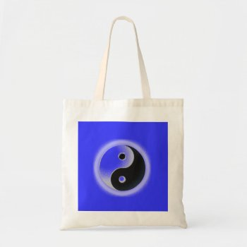 Tote Ying Yang Black Blue by creativeconceptss at Zazzle