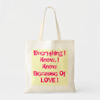 Totebag con cita del amor bolsa tela barata
