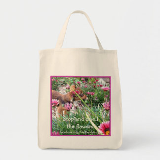 Totebag de Bumblesnot: El pequenito/flores Bolsa Tela Para La Compra