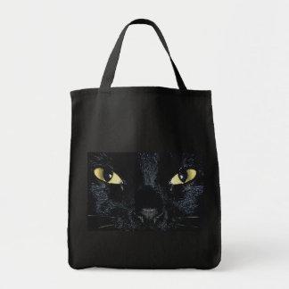 Totebag de los ojos de gato bolsa lienzo