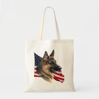 Totebag del perro de pastor alemán bolsa tela barata