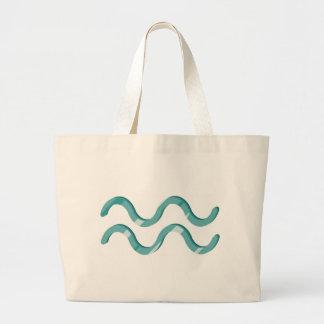 Totebag del símbolo del acuario bolsas lienzo