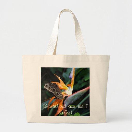 totebag elegante de la mariposa inspirada bolsa tela grande