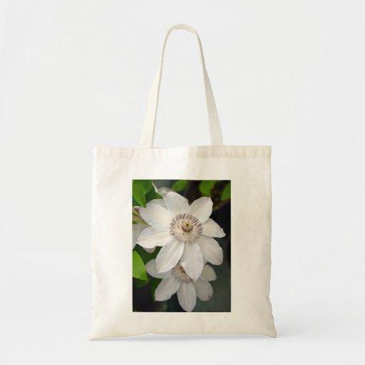 Totebag hermoso de la impresión floral del clemati bolsa tela barata