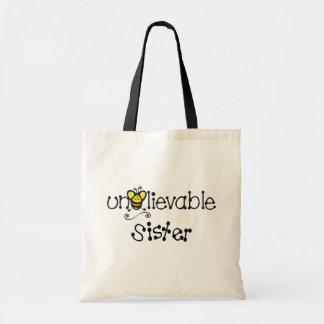 Totebag increíble de la hermana bolsa tela barata