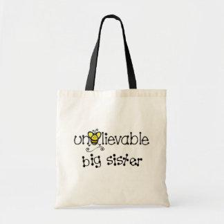 Totebag increíble de la hermana grande bolsa tela barata