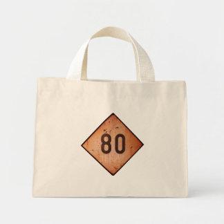 ToteBag: Vintage Railroad 80 Speed Train Sign Mini Tote Bag
