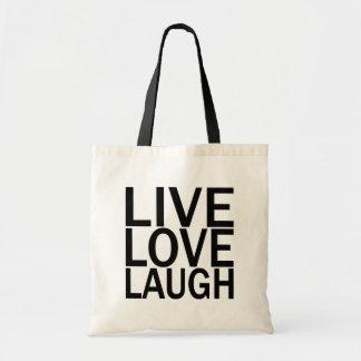 Totebag vivo de la risa del amor bolsas de mano
