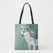 Totem Alberta Wolf Tote Bag