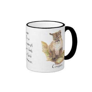 Tótem animal, espiritual, estímulo de la taza de dos colores