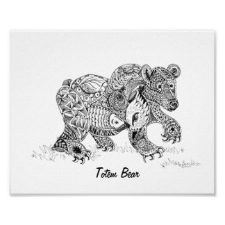 Totem Bear Print