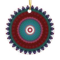 Totem colour pattern ceramic ornament