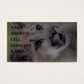 'Totem Cougar on the Hunt' Business Card