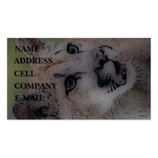 'Totem Cougar on the Hunt' Business Card Template