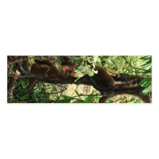 Tótem de la fauna tarjetas de visita mini