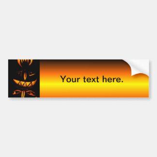 Tótem de la linterna de Halloween Jack O Pegatina Para Auto
