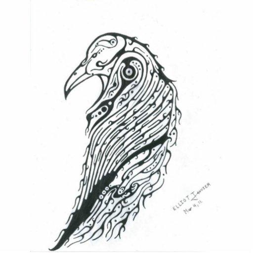 Tótem del cuervo esculturas fotograficas