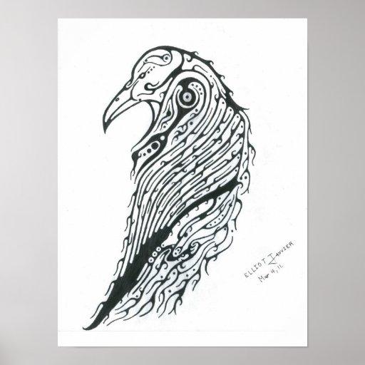 Tótem del cuervo poster