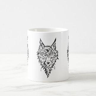 Tótem del lobo del Heartfang Tazas De Café