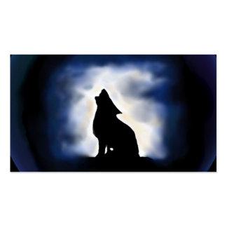 tótem - lobo tarjetas de visita