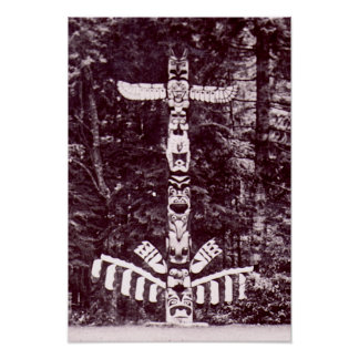 Totem Pole,  Alaska circa 1940 Print