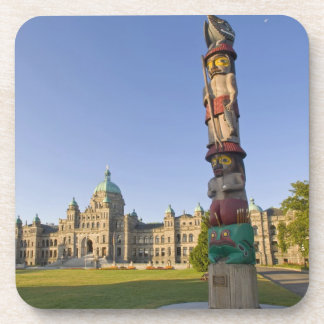 Totem pole at the Parliament building in Coaster