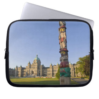 Totem pole at the Parliament building in Laptop Computer Sleeve