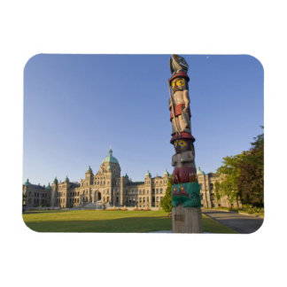 Totem pole at the Parliament building in Rectangular Photo Magnet