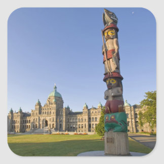 Totem pole at the Parliament building in Square Sticker