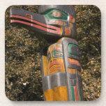 Totem pole in park in Ottawa, Ontario, Canada Beverage Coasters