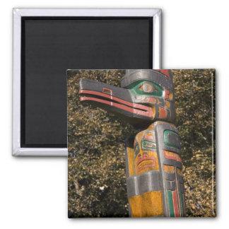 Totem pole in park in Ottawa, Ontario, Canada Fridge Magnets