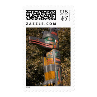 Totem pole in park in Ottawa, Ontario, Canada Postage