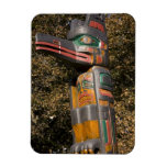 Totem pole in park in Ottawa, Ontario, Canada Rectangular Magnet
