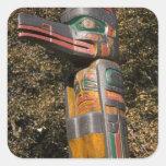 Totem pole in park in Ottawa, Ontario, Canada Square Sticker