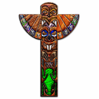 Totem Pole Spirit Creatures Photo Sculpture
