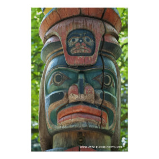 Totem Pole Wall Poster