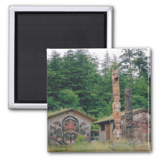 Totem Poles 2 Inch Square Magnet