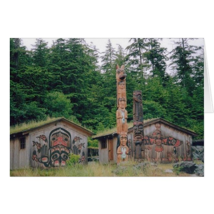 Totem Poles- Alaska Card