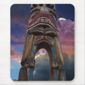 Totem Poles and Sunset Mouse Pad