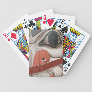 Totem poles at Haida Heritage Centre Museum Bicycle Playing Cards