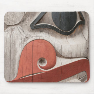 Totem poles at Haida Heritage Centre Museum Mouse Pad