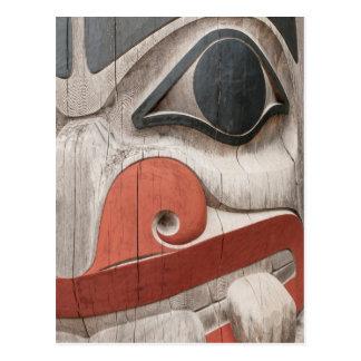 Totem poles at Haida Heritage Centre Museum Postcard